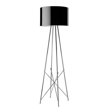 Flos - Ray F1 Stehleuchte - schwarz/Aluminium/H:127cm Ø36cm
