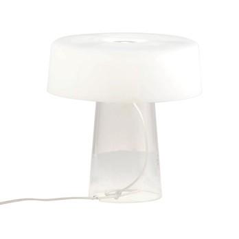 Prandina - Glam Small T3 Tischleuchte - opal weiß/matt/H 30cm, Ø 30cm/Gestell transparent