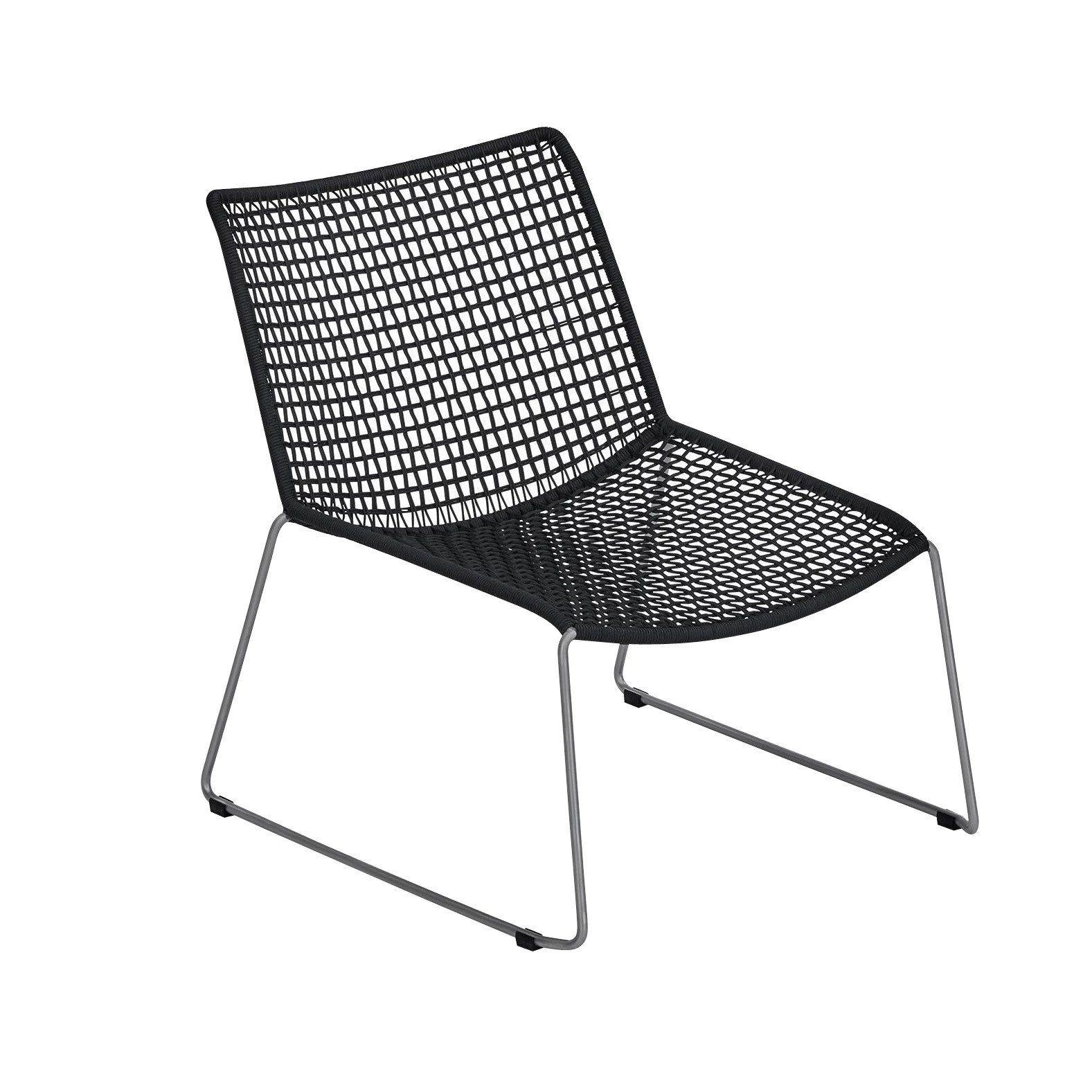 Lounge sessel schwarz weiß  Weishäupl Slope Lounge Sessel   AmbienteDirect