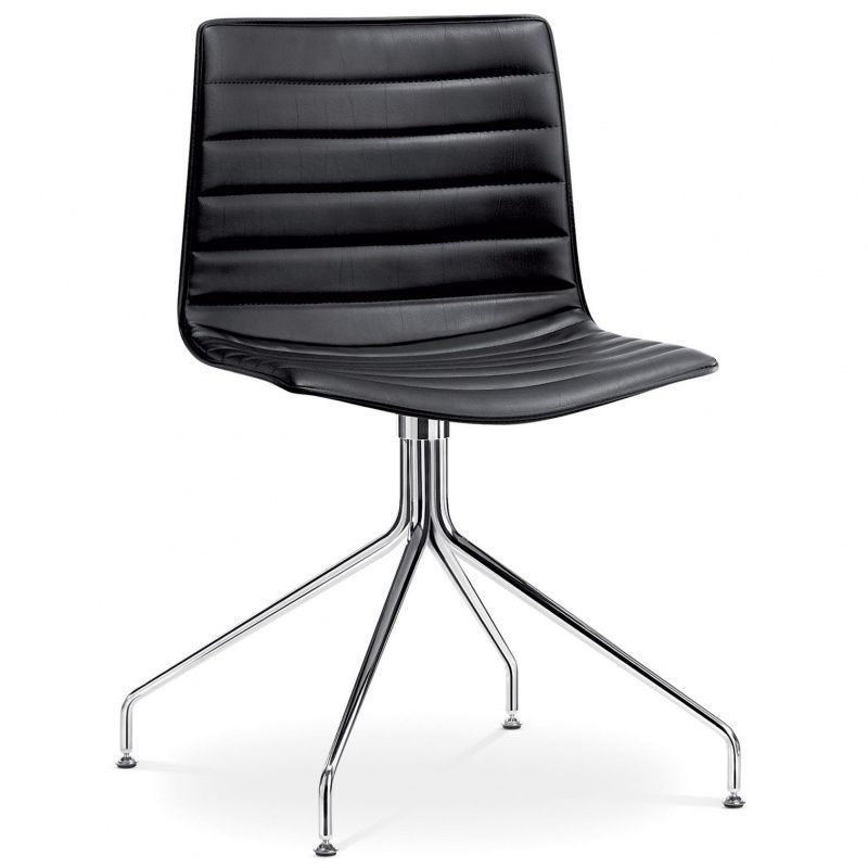 catifa 46 0259 stuhl in leder mit sternfu arper. Black Bedroom Furniture Sets. Home Design Ideas