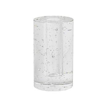 ferm LIVING - ferm LIVING Bubble Cylinder Glasobjekt 3316 - transparent/mit Blasen/H 11.3cm/Ø 6.6cm
