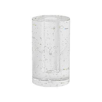 - ferm LIVING Bubble Cylinder Glasobjekt 3316 - transparent/mit Blasen/H 11.3cm/Ø 6.6cm