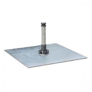 - Tuuci Schirmständer quadratisch 180kg - silber/91x91cm/2 Platten