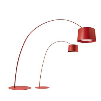 Foscarini - Twice As Twiggy LED Stehleuchte - rot/Glasfaser/dimmbar/3000K/8517lm
