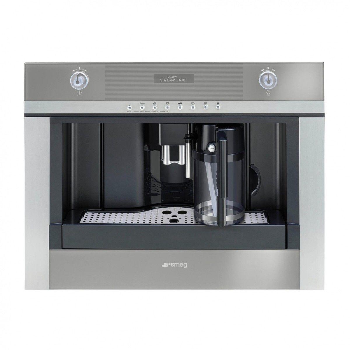 cmsc451 einbau kaffeevollautomat smeg kaffee espressomaschinen technik. Black Bedroom Furniture Sets. Home Design Ideas