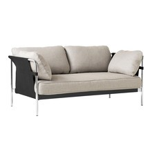 HAY - Can 2.0 2-Seater Sofa Frame Steel Chromed