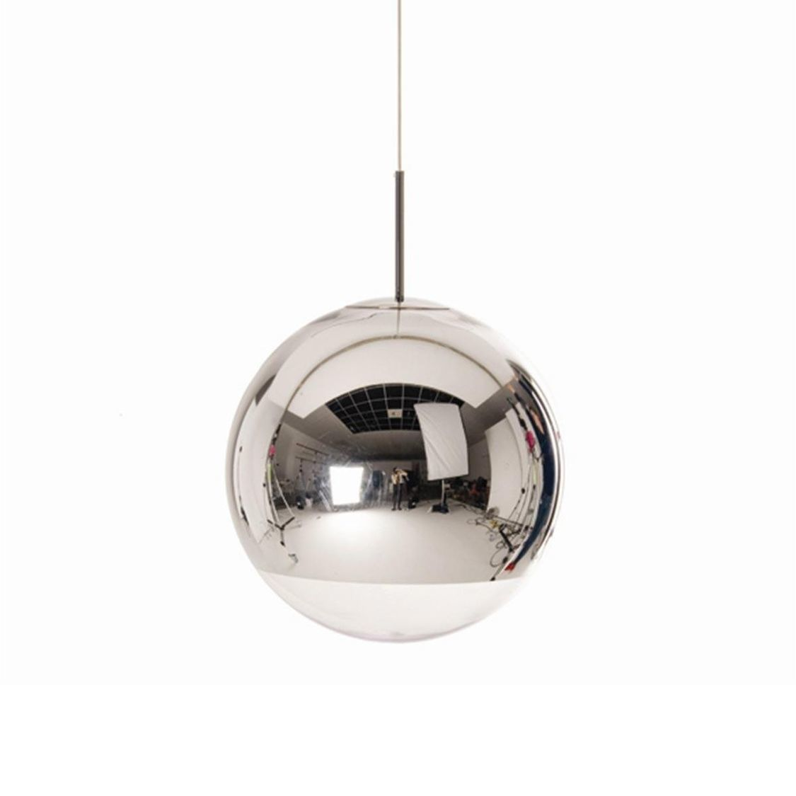 mirror ball pendant pendelleuchte chrom tom dixon. Black Bedroom Furniture Sets. Home Design Ideas