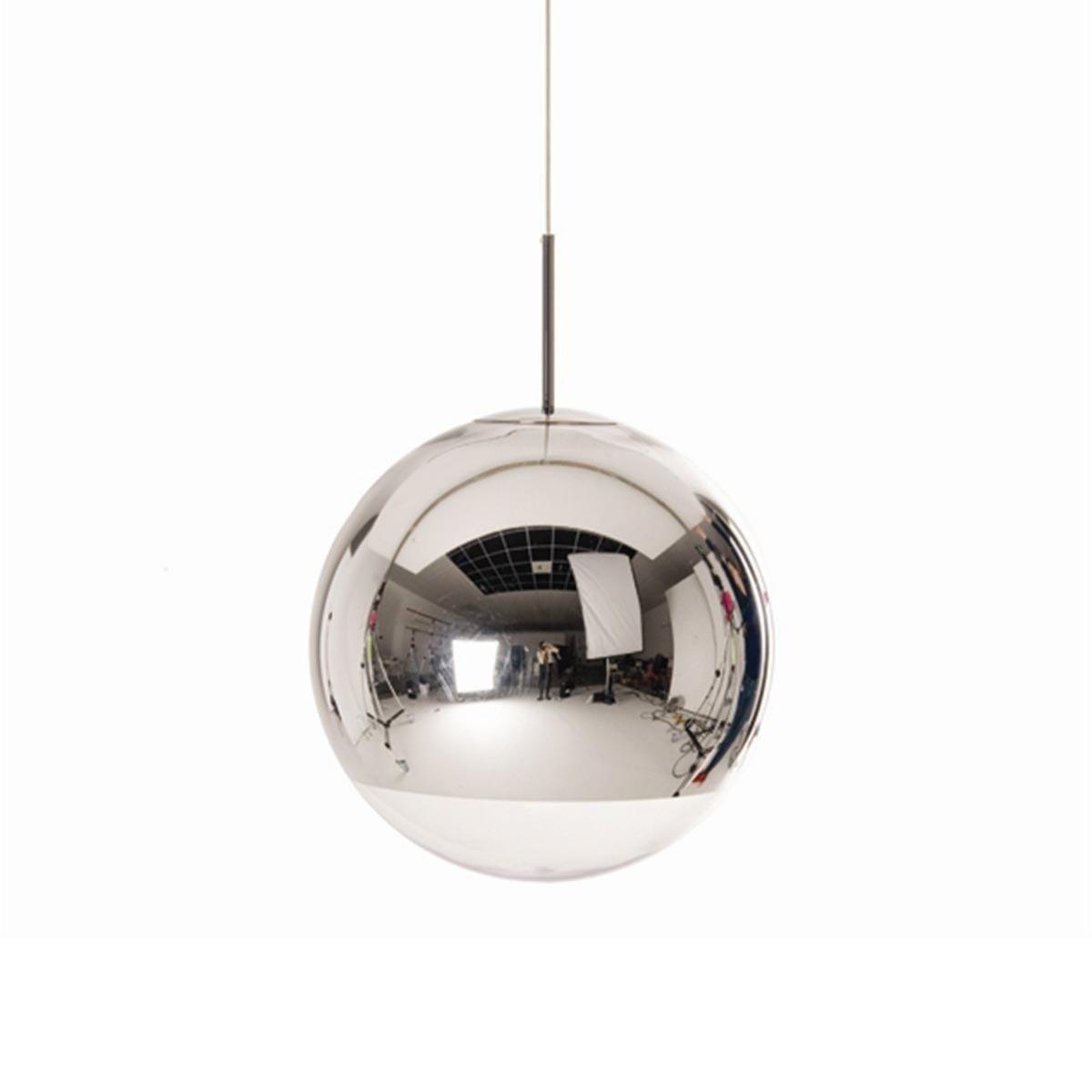 mirror ball pendant suspension lamp chrome tom dixon. Black Bedroom Furniture Sets. Home Design Ideas