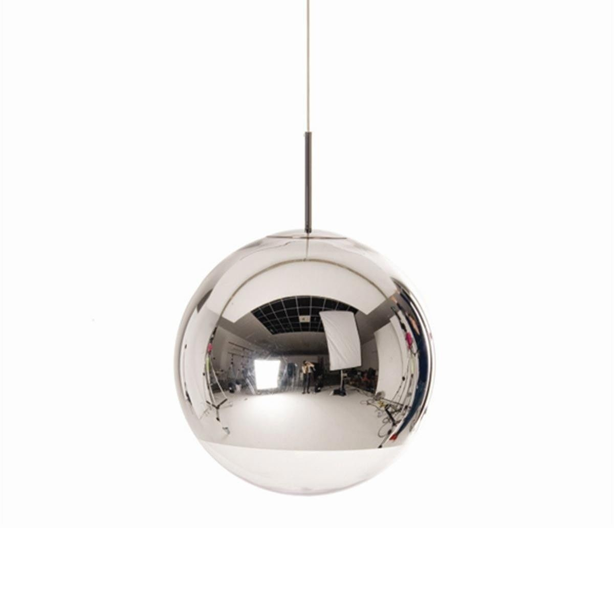 mirror ball pendant suspension lamp chrome tom dixon. Black Bedroom Furniture Sets. Home Design Ideas