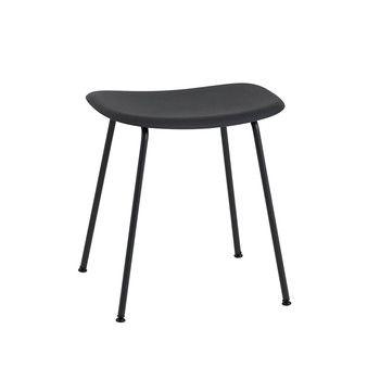 - Fiber Hocker 45cm - schwarz/Sitzfläche Kunststoff/BxHxT 45x46x35,5cm/Gestell Stahl schwarz: pulverbeschichtet