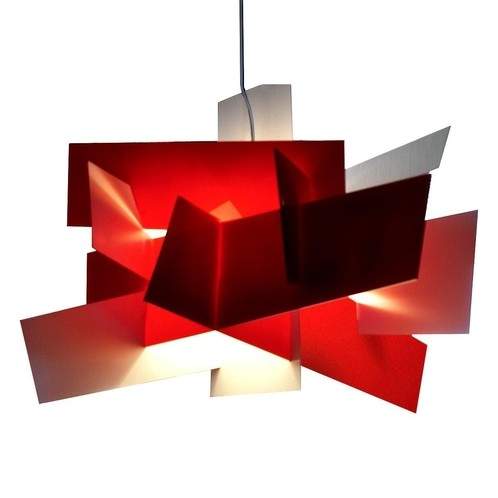 Foscarini - Big Bang XL LED-Pendelleuchte  - rot/dimmbar/3000K/9126lm/Schirm: 132x 192 cm