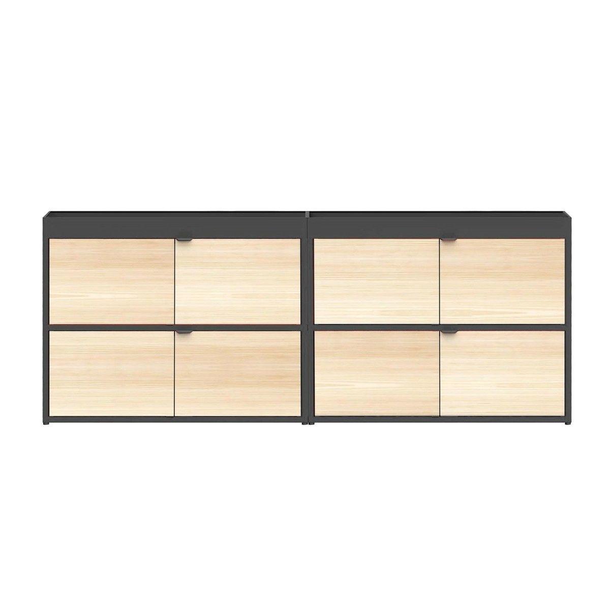 new order sideboard mit t ren hay rot. Black Bedroom Furniture Sets. Home Design Ideas