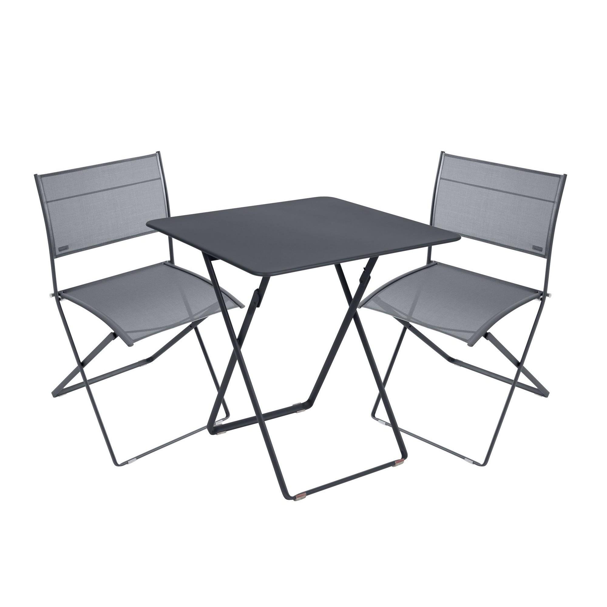 1 Table2 Chaises De Plein Air Ensemble dCWBorex