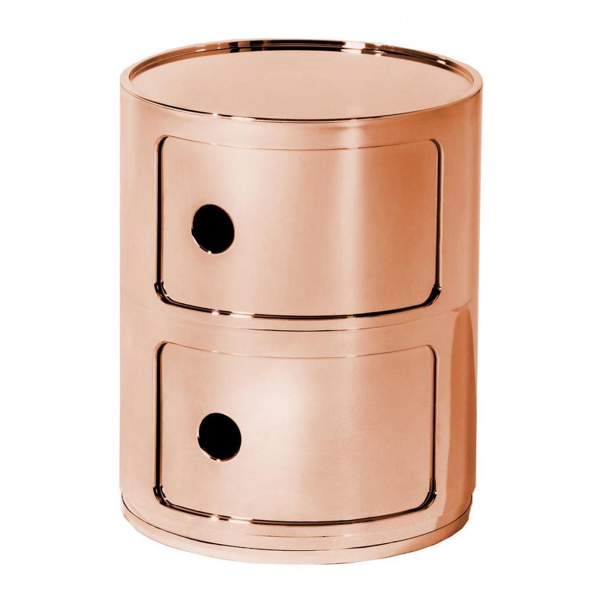 componibili  metallic container  kartell  ambientedirectcom - kartell  componibili  metallic container  copperglossy