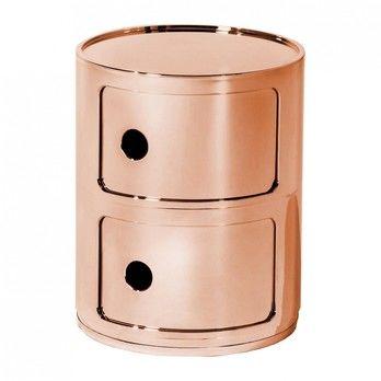 Kartell - Componibili 2 Metallic Container - kupfer/glänzend