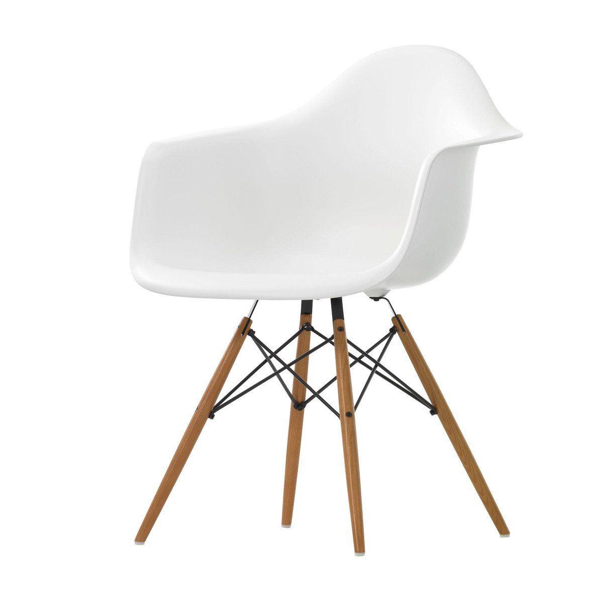 Beautiful Vitra   Eames Plastic Armchair DAW Ash   White/frame ...