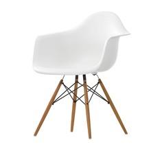 Vitra - Vitra Eames Plastic Armchair DAW essenhout