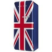 Smeg - FAB28 Standkühlschrank Union Jack - dunkelblau/Motiv Union Jack/lackiert/Linksanschlag