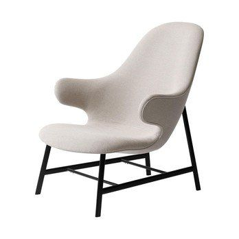&tradition - Catch Lounge JH13 Sessel - beige/Stoff Jacquared 5 Neutral/BxHxT 82x86x92cm/Gestell schwarz pulverbeschichtet