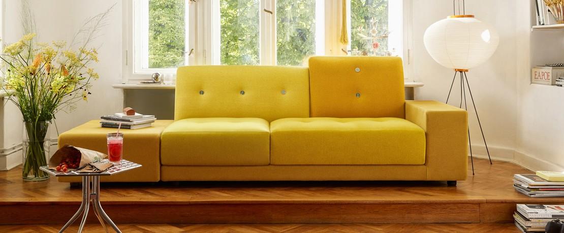 Vitra Polder Compact Sofa Gelb