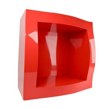 Magis - Boogie Woogie Regalmodul - rot/glänzend / mit Rückwand/Lagerartikel / Nur solange der Vorrat reicht/52x52x28cm