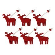 Hey-Sign - Christmas Ornament Reindeer 6 pieces