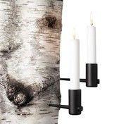 Menu - Pipe Kerzenhalter Set - schwarz/13.0 x 6.0cm/2 Stück
