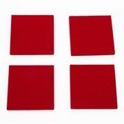 Hey-Sign - Set de 4 dessous-de-verre carrés 9x9cm