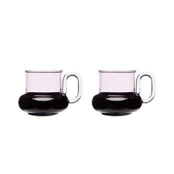 - Bump Teetassen 2er Set - schwarz/pink/12x12x7,5cm/Lieferbar ab 14.12.2017
