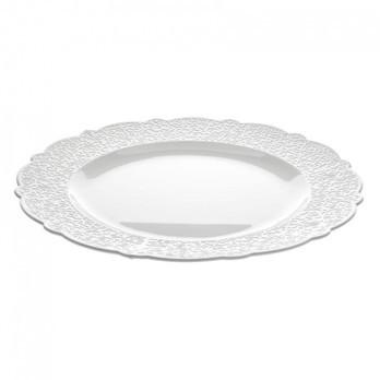 Alessi - Dressed Servierplatte - weiß/Reliefdekor