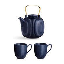 - Hammershøi Set Teekanne mit 2 Tassen