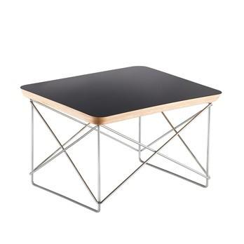 Vitra - Occasional Table LTR Beistelltisch - schwarz/Eichenk./BxHxT 39,2x25x33,5cm/Gestell Chrom