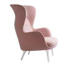 Fritz Hansen - Ro™ JH1 Wingback Fabric Chair Aluminum Feet