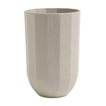 HAY - Paper Porcelain Vase M - grau/Ø9.5cm/H 15cm