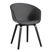 HAY - AAC 22 Armchair Upholstered Black Stained Oak