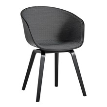 HAY - About a Chair AAC 22 Armchair Upholstered Black Stained Oak
