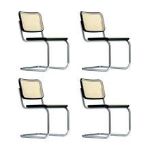 Thonet - Set de 4 silla cantilever Thonet S 32 V Promoción