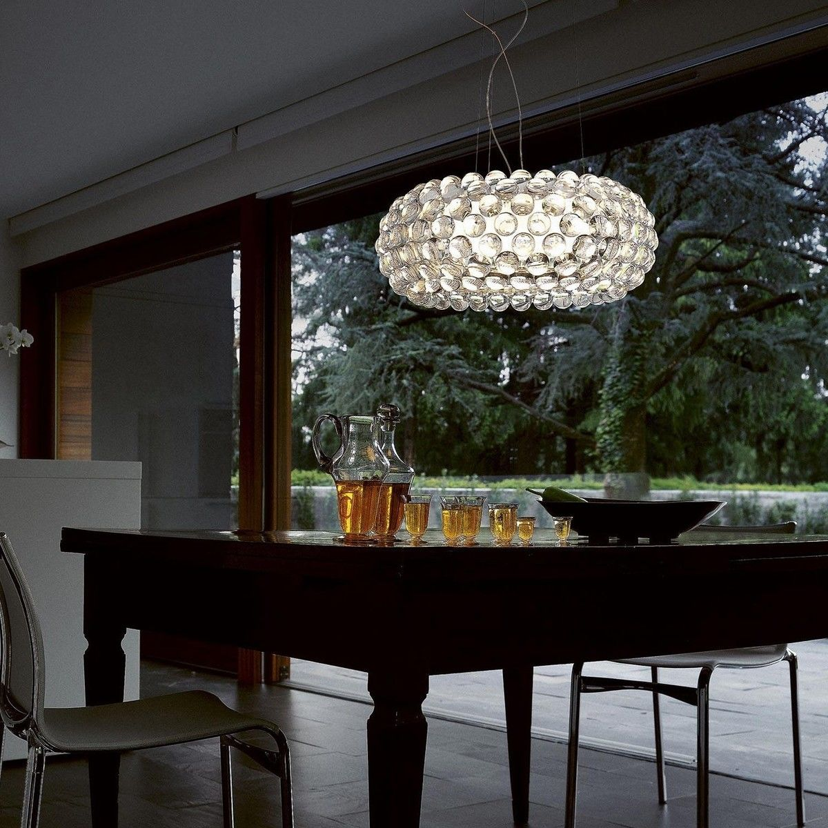caboche media sospensione led suspension lamp foscarini. Black Bedroom Furniture Sets. Home Design Ideas