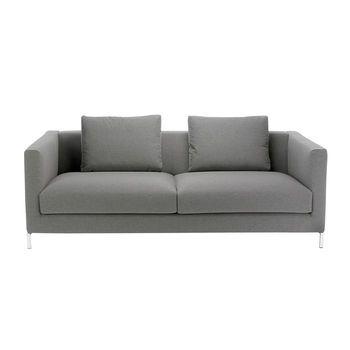 ADWOOD - Cube Sofa 3-Sitzer Couch 202x92cm - anthrazit/Stoff Prestige/inkl. 2 Rückenkissen