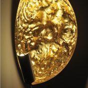 Catellani & Smith - Stchu-Moon 05 Wandleuchte / Deckenleuchte - gold/Aluminium/außen weiß