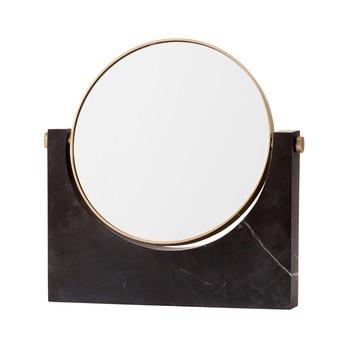 Menu - Pepe Marmorspiegel  - schwarz/26 x 25 x 3cm/3-fache Vergrößerung/schwenkbar