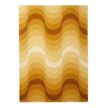 VerPan - Wave Teppich 240x170cm - gelb/100% neuseeländische Wolle/handgearbeitet