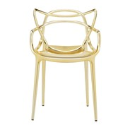 Kartell - Chaise avec accoudoirs Masters Metallic