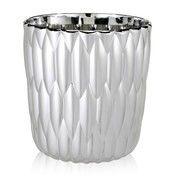 Kartell - Jelly Metallic Vase - chrom/Ø23.5cm/H 25cm