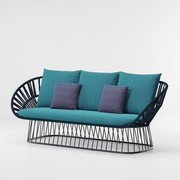Kettal - Cala Outdoor Sofa 3 Seater 230x86x89cm