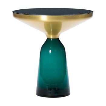 ClassiCon - Bell Side Table Beistelltisch Messing - smaragd-grün/Ø50cm/H:54cm
