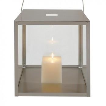 Gandia Blasco - Farol Laterne - transparent/Rahmen aluminium/Aluminium/Größe 3/40cm