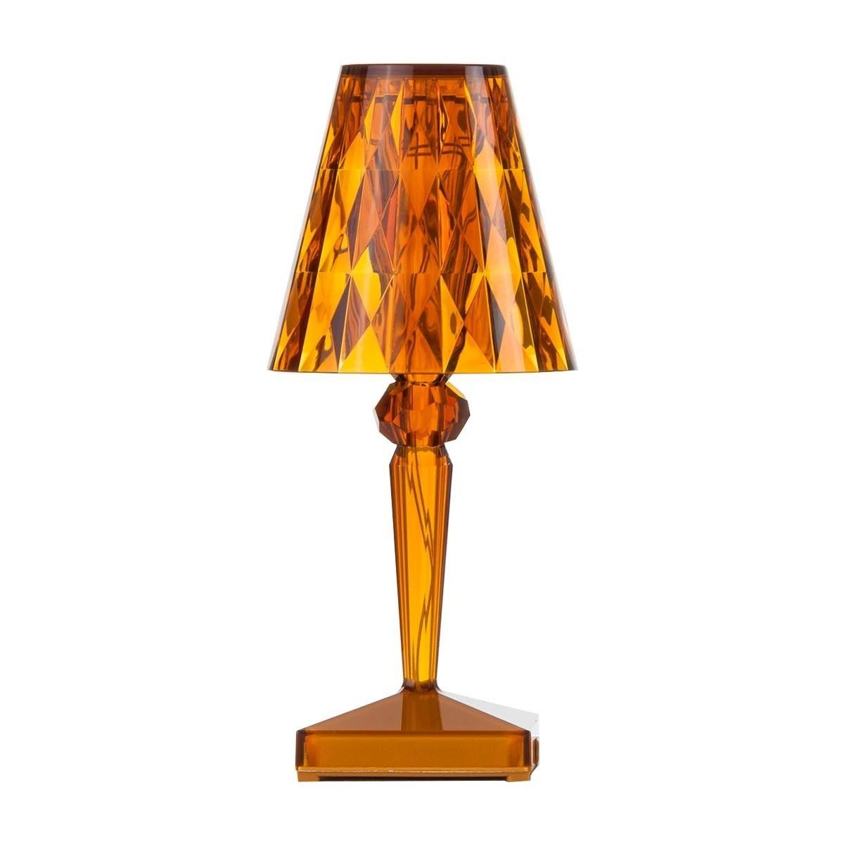 Battery led lampe de table sans fil kartell for Lampe de table jaune