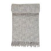 Linum - Style Throw Plaid/Tagesdecke - hellgrau/100% Wolle/130x170cm