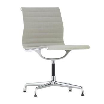 Vitra - EA 101 Aluminium Chair Stuhl - warmes grau/elfenbein/Gestell aluminium poliert/mit Filzgleitern